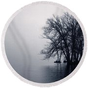 Fog Day Afternoon Round Beach Towel