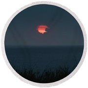 Fog Shrouded Sunrise Delray Beach Florida Round Beach Towel