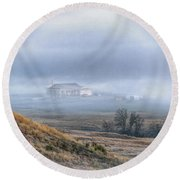 Round Beach Towel featuring the photograph Fogbow by Fiskr Larsen