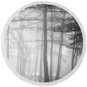 Foggy Ellacoya Round Beach Towel