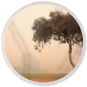 Foggy Morning Round Beach Towel