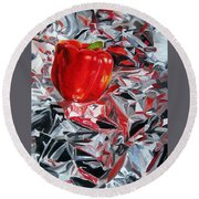 Foil Reflections Round Beach Towel