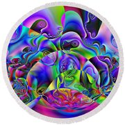 Foistences Round Beach Towel