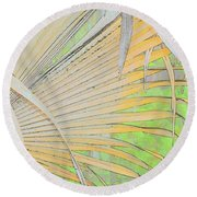 Fold Over Palm Round Beach Towel