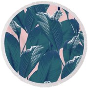 Foliage Round Beach Towel
