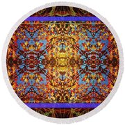 Foliage Tapestry Round Beach Towel by Joy Nichols