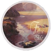 Follow Me Round Beach Towel
