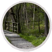 Follow The Path Round Beach Towel