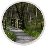 Follow The Path Round Beach Towel by Andrea Silies