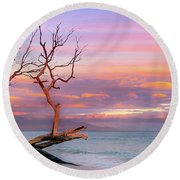 Follow The Rainbow Round Beach Towel by James Roemmling