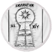 Follow Your Inspiration  Round Beach Towel