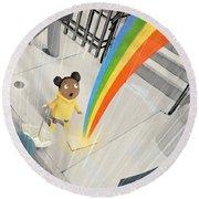 Follow Your Rainbow Round Beach Towel