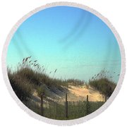 Folly Beach Sc Dunes Round Beach Towel
