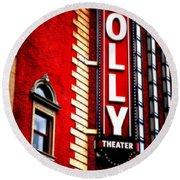 Folly Theater Round Beach Towel
