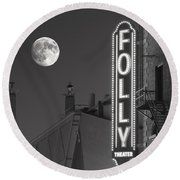 Folly Theatre Kansas City Round Beach Towel