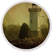 Fond Du Lac Lighthouse Round Beach Towel by Joel Witmeyer