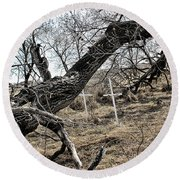Fone Hill Cemetery  Round Beach Towel by Ryan Crouse