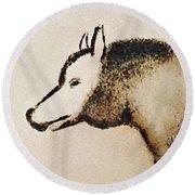 Font De Gaume Wolf Round Beach Towel