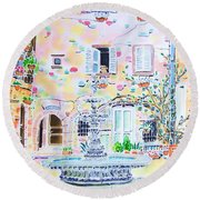 Fontaine Round Beach Towel