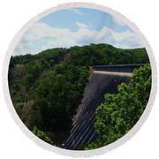 Fontana Dam Round Beach Towel by Cathy Harper