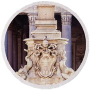 Fontana Del Pantheon - Pantheon Fountain II Round Beach Towel