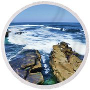 Food For The Soul Round Beach Towel