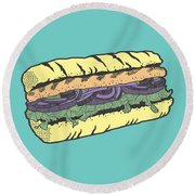 Food Masquerade Round Beach Towel by Freshinkstain