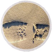 Foot Print Round Beach Towel