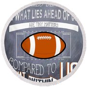 Football Inspiration Round Beach Towel