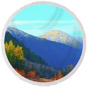 Foothills Round Beach Towel