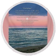 Round Beach Towel featuring the photograph Footsteps by Joseph J Stevens