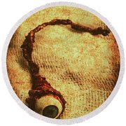 For A Bandaged Iris Round Beach Towel