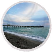 For All To Enjoy Round Beach Towel
