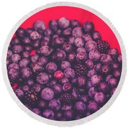 For The Love Of Berries Round Beach Towel