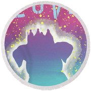 For The Love Of Pups Round Beach Towel