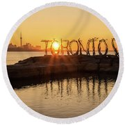 For The Love Of Toronto Round Beach Towel