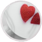For Valentine's Day Round Beach Towel