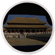Forbidden City, Beijing Round Beach Towel