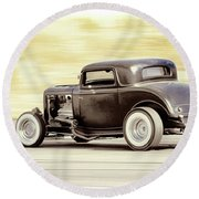 Ford Coupe Racer Round Beach Towel