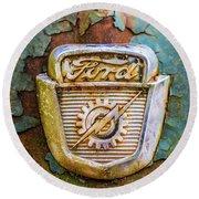Ford Emblem Round Beach Towel