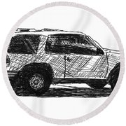 Ford Explorer Round Beach Towel by Eric Tressler