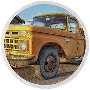 Ford F-150 Dump Truck Round Beach Towel