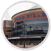Ford Field Round Beach Towel