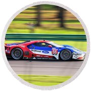 Ford Gt Hand Muller Round Beach Towel