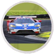 Ford Gt On Track Vir Round Beach Towel