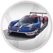 Ford Gt Round Beach Towel