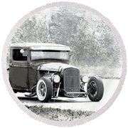 Ford Hot Rod Round Beach Towel