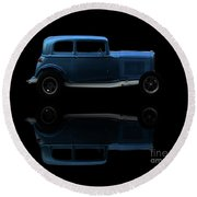 Ford Hot Rod Reflection Round Beach Towel