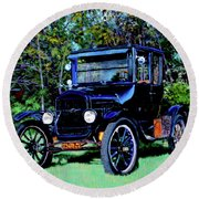 Ford Model T Round Beach Towel