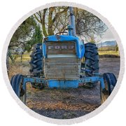 Ford Tractor Round Beach Towel